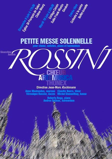 Affiche du Concert Arte Musica 2008 - Rossini