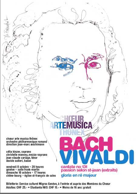 Affiche du Concert Arte Musica 2010 - Bach, Vivaldi