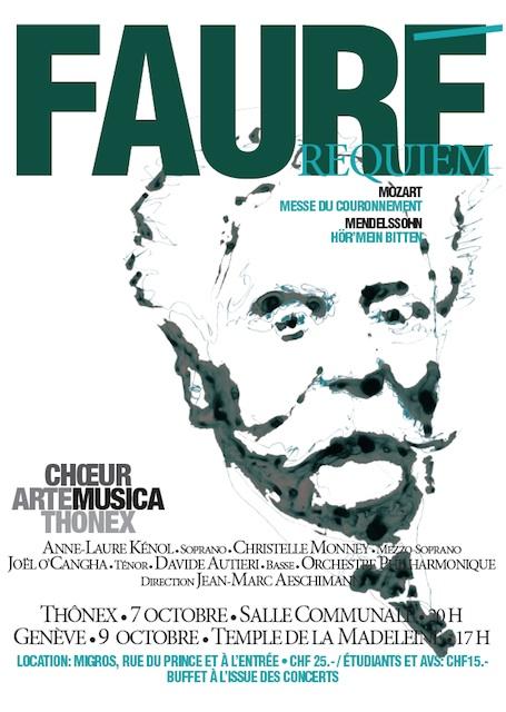 Affiche du Concert Arte Musica 2011 - Fauré, Mozar, Mendelssohn