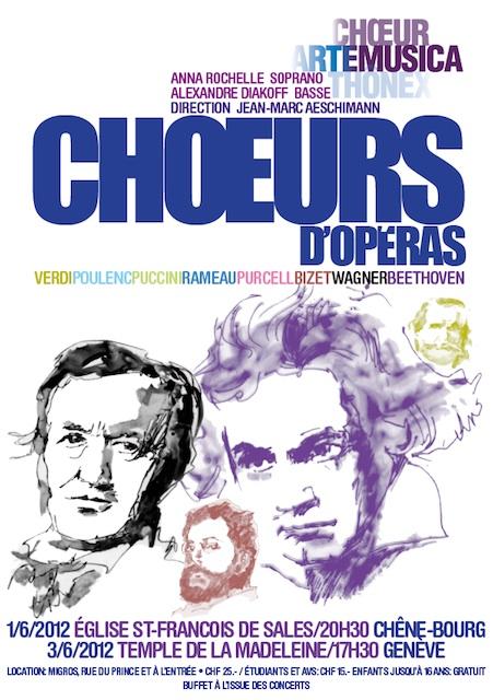Affiche concert Arte Musica 2012