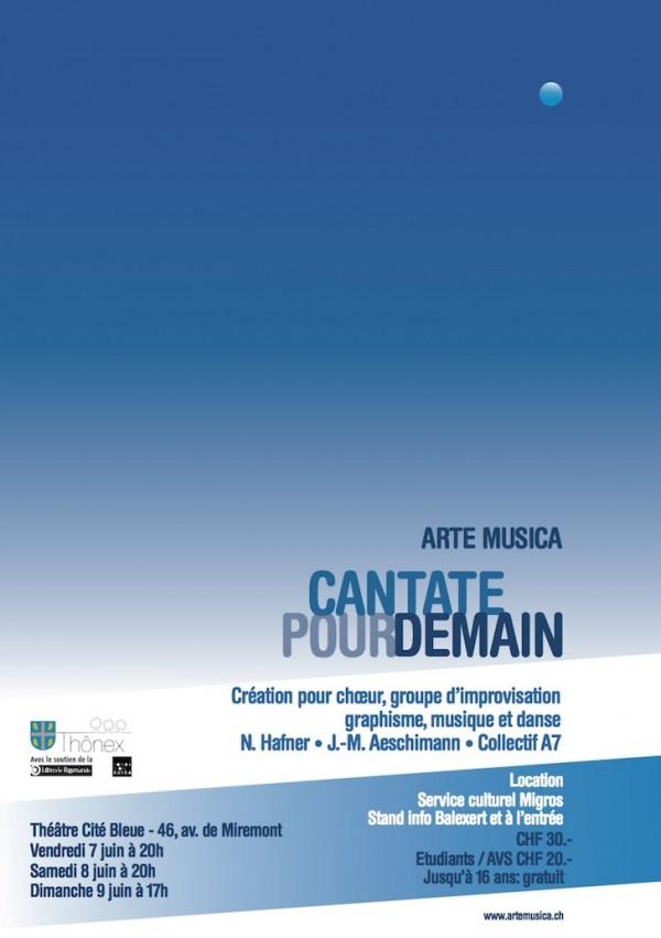Affiche du spectacle Cantate pour Demain – Arte Musica 2013